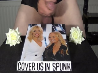 willoughby holly willoughby & emma bunton cum tribute holly