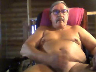 stroke grandpa abscond on webcam grandpa