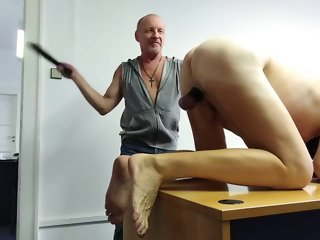 office Spanking in a catch office spanking